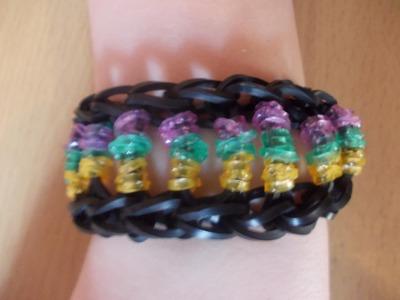 Rainbow Loom Bands Anleitung deutsch Armband - Perlenarmband - Rubber Bandz Bracelet tutorial