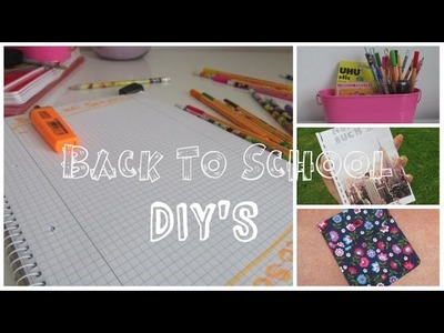 Back To School : DIY'S - einfach und schnell