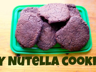 DIY 3 Ingredients Nutella Cookies (Deutsch, English Sub)