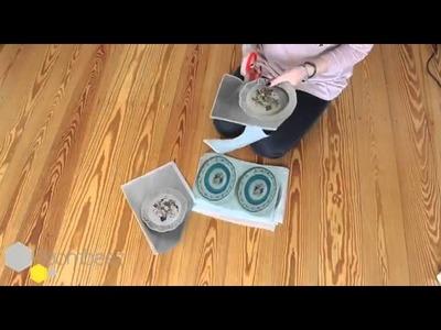 DIY: Lampenschirm pimpen mit Teller-Prints