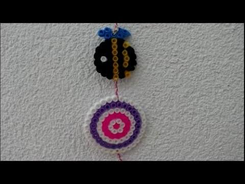 DIY: Bügelperlen Bienen und Blume ♥ Wanddeko ♥ Hama Perlen ♥ Aufhänger