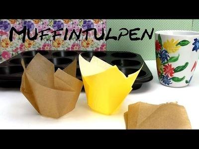 DIY Muffin Formen. Förmchen.  Muffintulpen ganz einfach selber machen Anleitung | deutsch