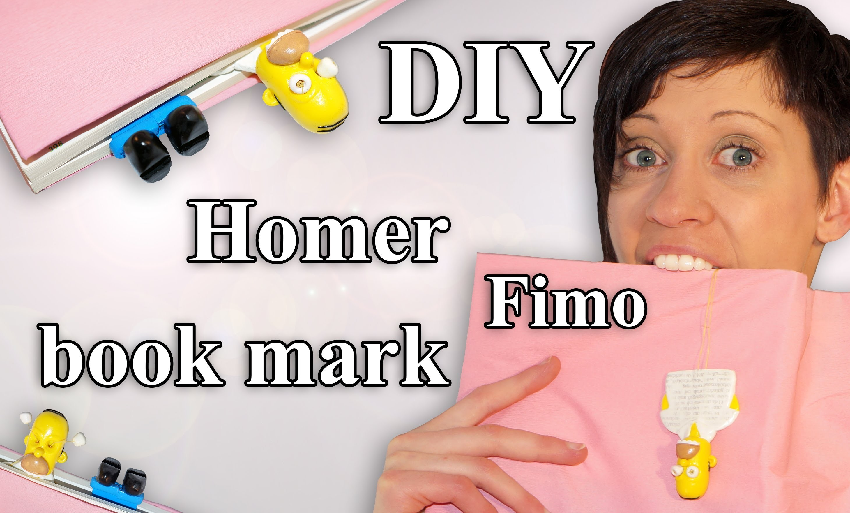 FIMO Lesezeichen Homer: Polymer Bookmark Simpson - Tutorial [HD.DE] (EN-Sub)