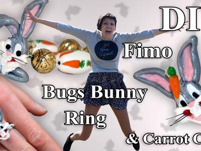 FIMO Karotten Cane: Polymer Bugs Bunny Ring - Tutorial [HD.DE] (EN-Sub)
