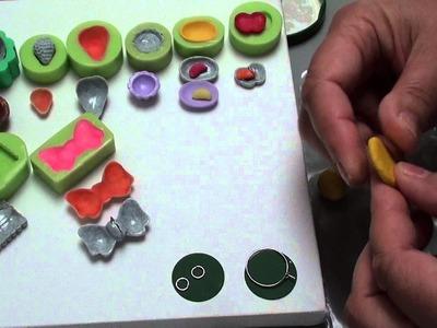 10(Tuto Fimo) kleine Teller u. Schälchen mit u. ohne  MOLD, Polymer Clay