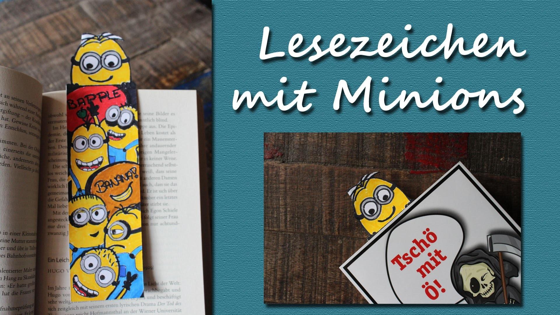 DIY Speed Drawing: Lesezeichen mit Minions - Minion Bookmark | kreativBUNT