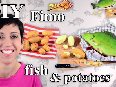 FIMO Fisch & Kartoffeln: Polymer Clay Fish & Potatoes - Tutorial [HD.DE] (EN-Sub)