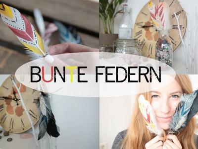 DIY bunte Feder - BohoMai - kekulo