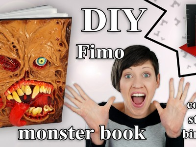 FIMO Buch (Monster): Polymer Mutant & Coptic Stitch Book - Tutorial [HD.DE] (EN-Sub)