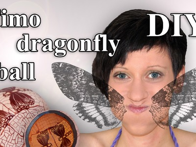 FIMO Libelle (Cane) Kugel: Polymer Dragonfly Ball - Tutorial [HD.DE] (EN-Sub)
