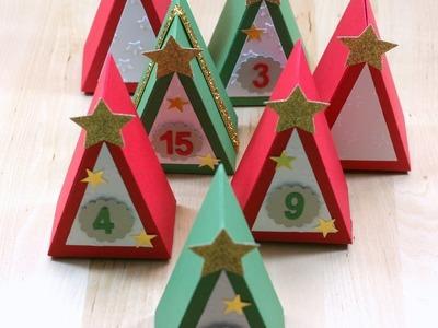 Adventskalender mit Thinlits Tortenstück von Stampin' Up!**Geschenkverpackung**DIY