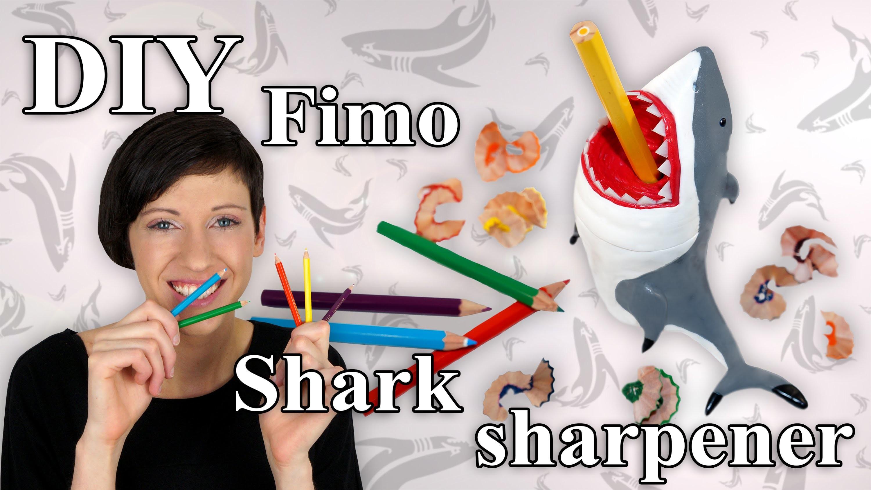 FIMO Hai (Spitzer): Polymer Clay Shark Sharpener - Tutorial [HD.DE] (EN-Sub)