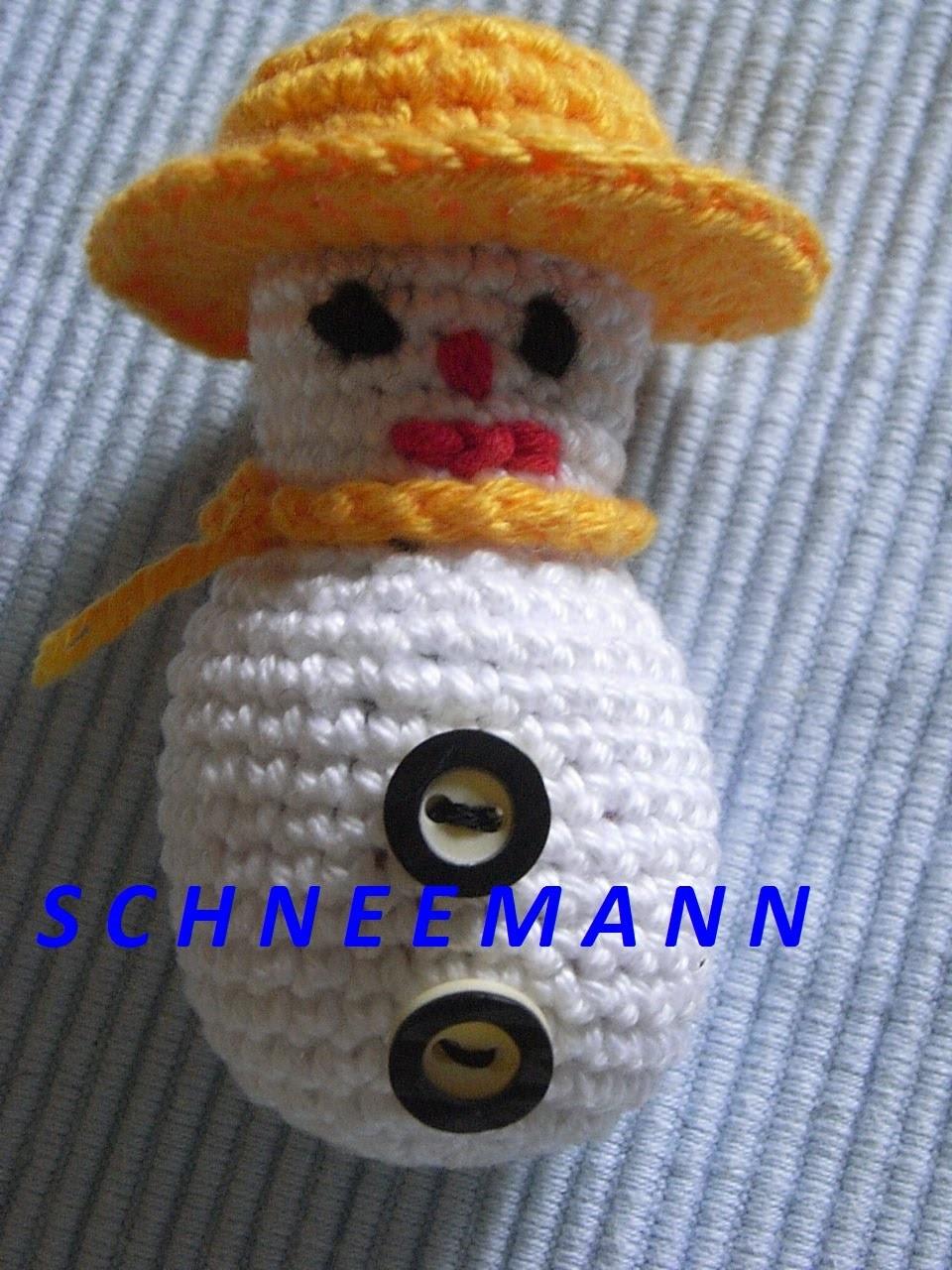 Schneemann Häkeln*Tutorial Snowman crochet*Weihnachtsdekoration*Handarbeit