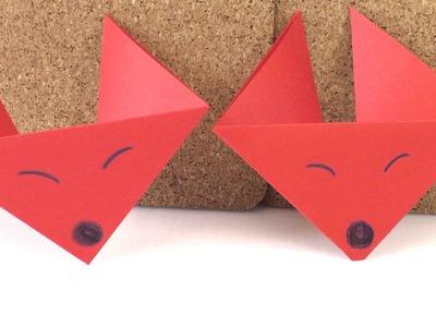 Origami Fuchs deutsch - Anleitung zum selber machen - Fuchs falten DIY