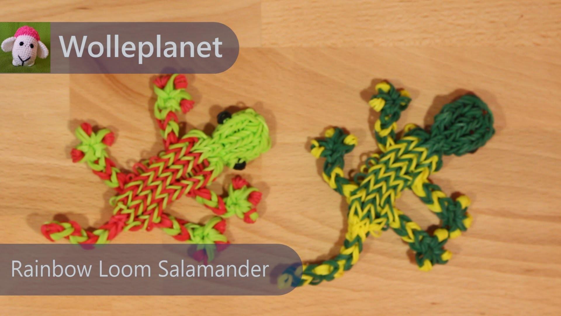 Rainbow Loom Salamander mit Gabel