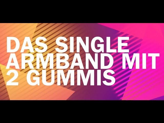 Single Armband mit 2 Gummis I Rainbow Loom Profi I Deutsch