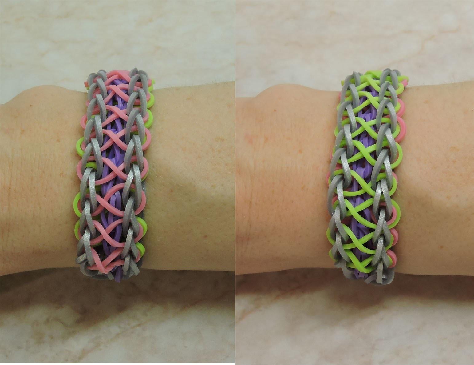 Beidseitig verwendbares Armband.Sehr einfach!Crazy Loom,Rainbow Loom,Zauber Loom,Deutsch