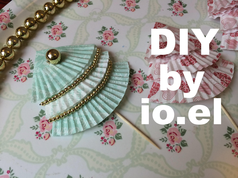 DIY. Christmas diy - Papierbackförmchen als deko