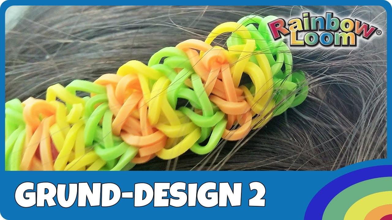 HairLoom Grund-Design 2 - deutsche Anleitung von Rainbow Loom