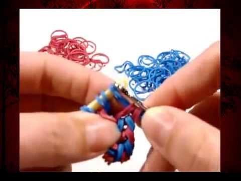 Loom Bands ohne Rainbow Loom deutsch Doppel Fishtail Armband mit Häkelnadel