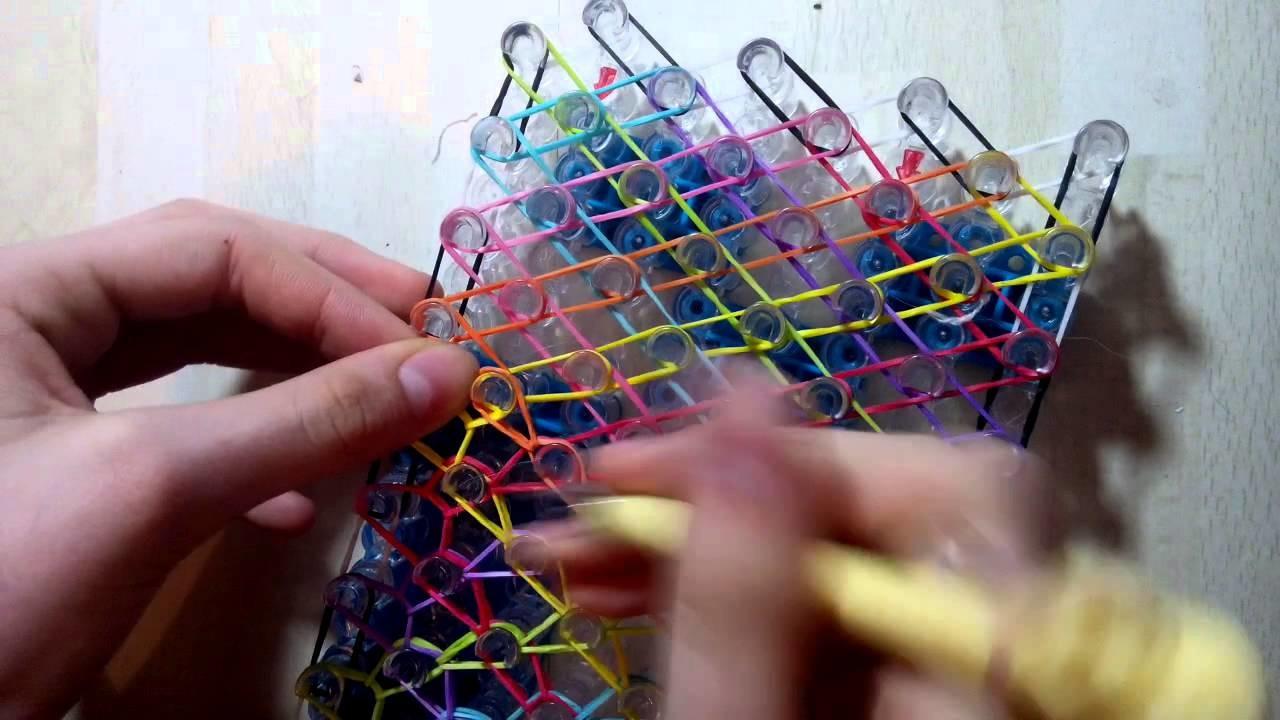 Rainbow loom: big rainbow armband-selbsterfunden