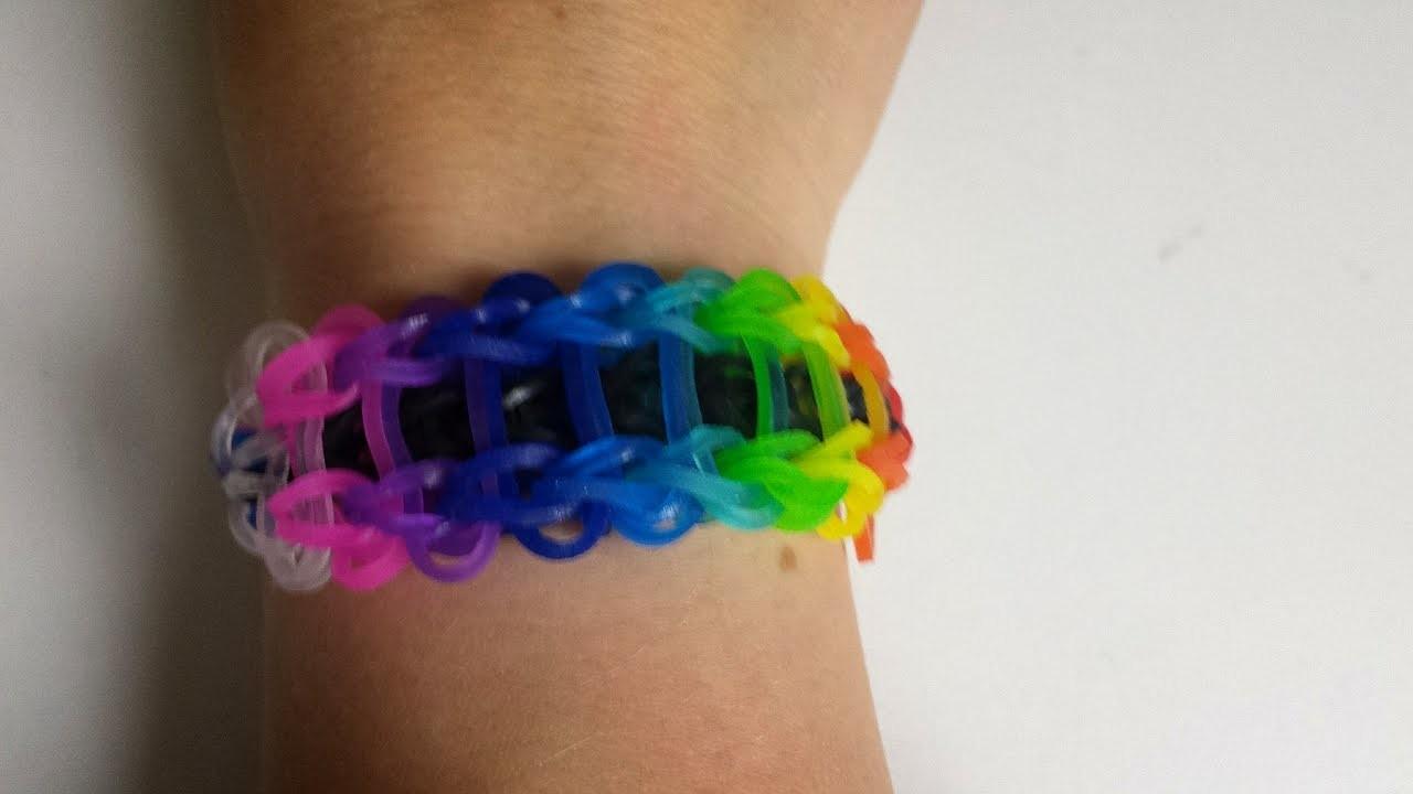 Rainbow loom Leiter Armband ( Anleitung deutsch )