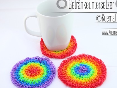 Rainbow Loom-Rainbow Getränkeuntersetzer. Coaster. каботажное судно