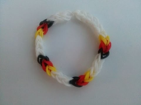 Fan Armband Deutschland,Crazy Loom,Rainbow Loom,Zauber Loom,Deutsch