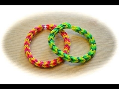 Rainbow loom  fischgreten armband