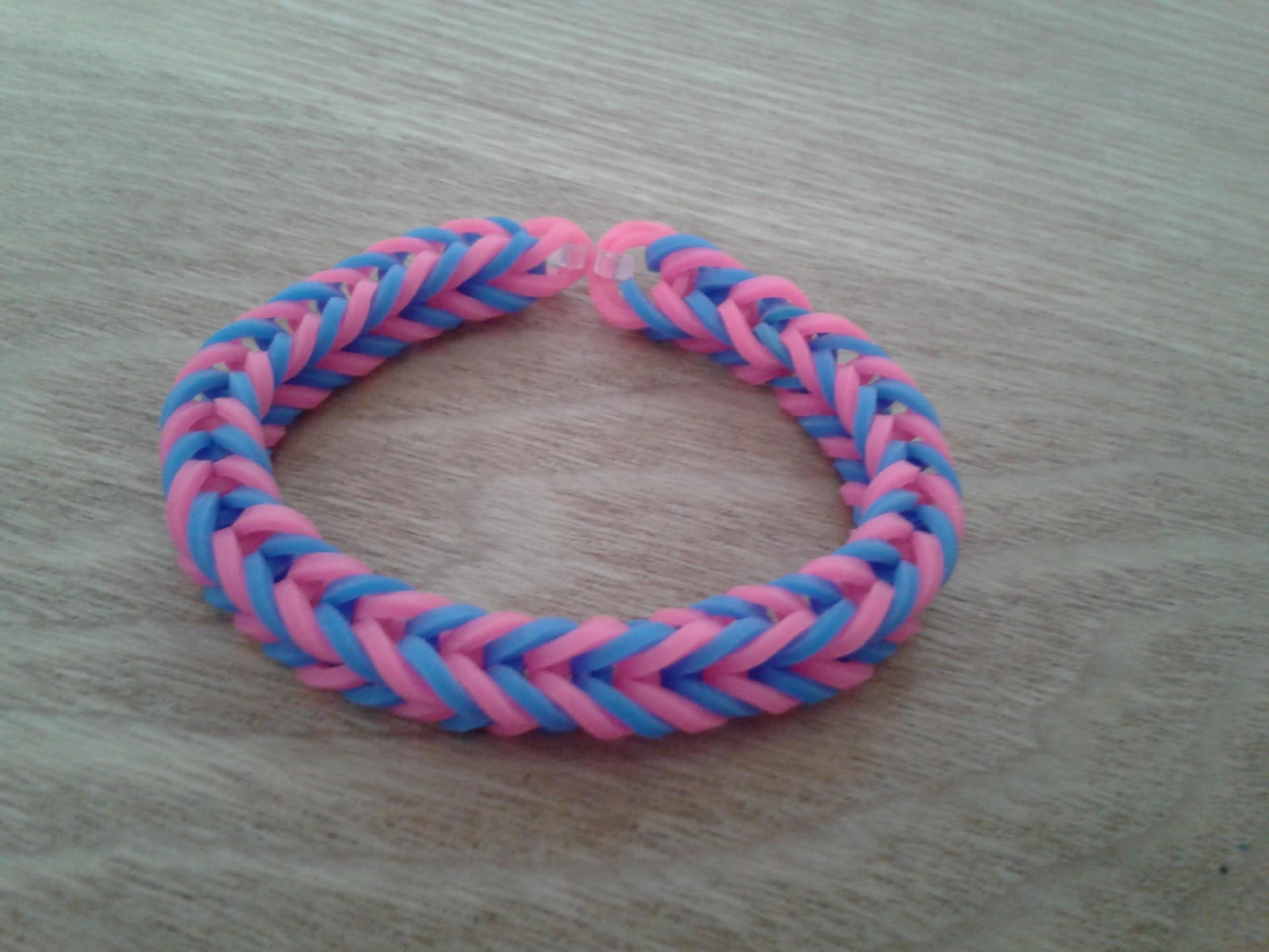 Rainbow Loom Fishgräten-Armband. Fishtail