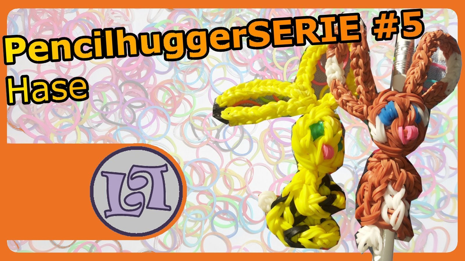 Rainbow Loom. Hase Pencilhuggerserie #5 | Luna Looms