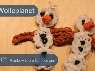 Rainbow Loom Schneemann mit Loom