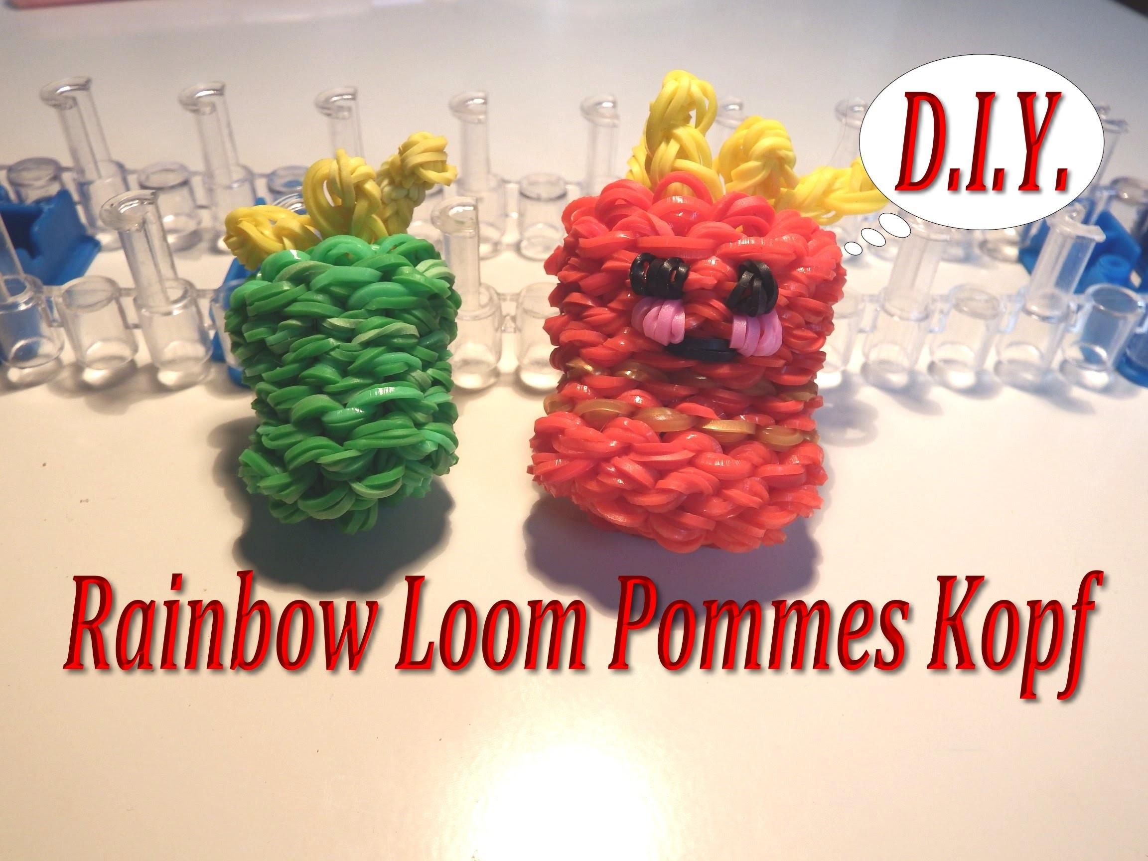*** D.I.Y. Rainbow Loom Bands - 3D Pommes Kopf -Tini ***