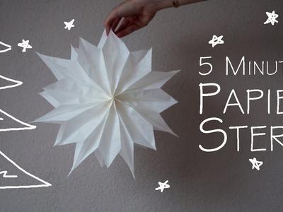 DIY Papier Stern - in 5 Minuten - kekulo christmas