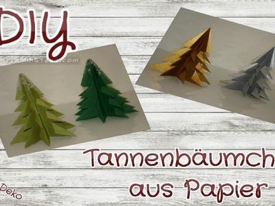 DIY-Tannenbäumchen aus Papier | Weihnachtliche Dekoidee | einfach und schnell