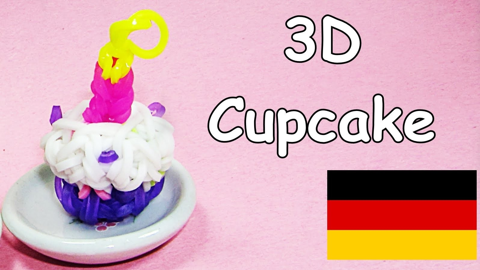 Loom Bandz Anleitung Deutsch Cupcake Rainbow Loom Deutsch Loom Bands 3D