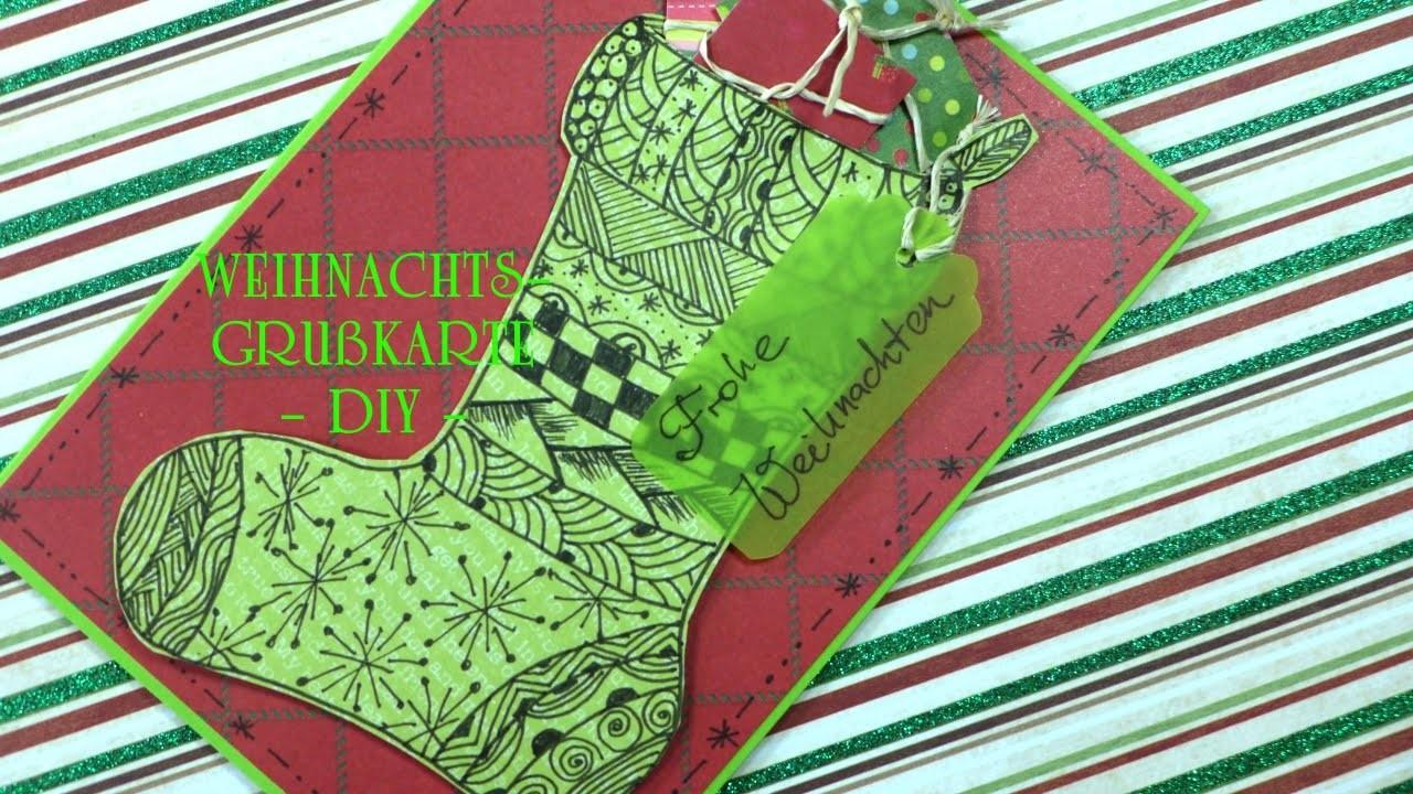 "Weihnachtsgrußkarte ""Nikolaussocke"" DIY"