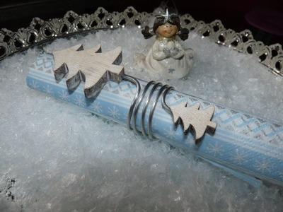 DIY Serviettenhalter Serviettenring Weihnachten selber basteln