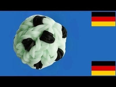 Loom Bandz Anleitung Deutsch Fußball (Rainbow Loom Deutsch Loom Bands 3D Soccer Ball)