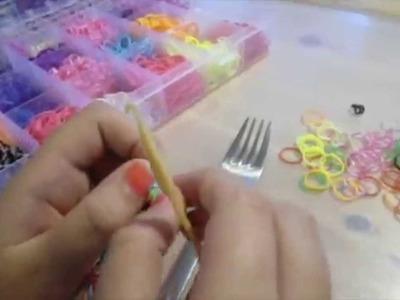 Tutorial: Loom Armband - Fischgrätenarmband Rainbow