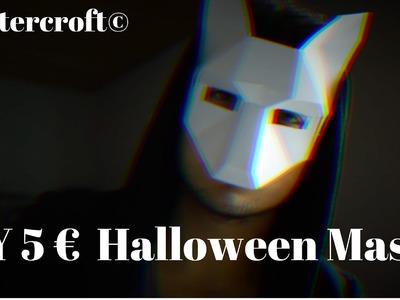 DIY 5 € Last Minute Halloween Maske | wintercroft