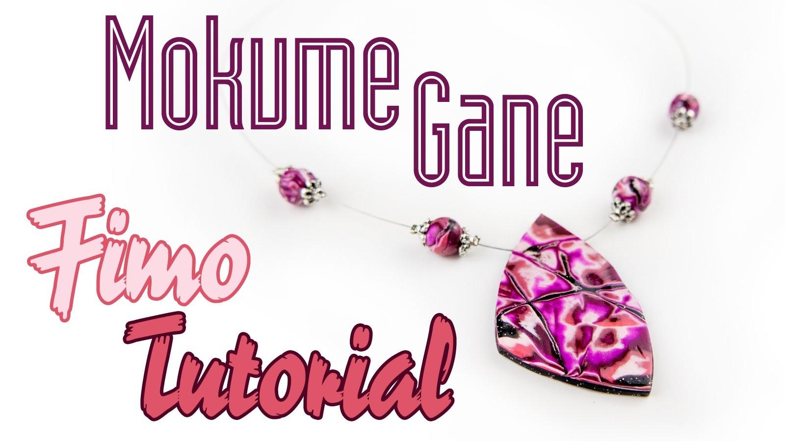 [FIMO Tutorial] Mokume-Gane Schmuck Halskette   Polymer Clay Anleitung DEUTSCH