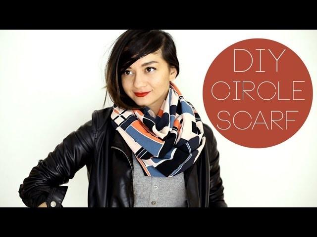DIY Circle Scarf Loop Schal Geschenkidee Gift Idea