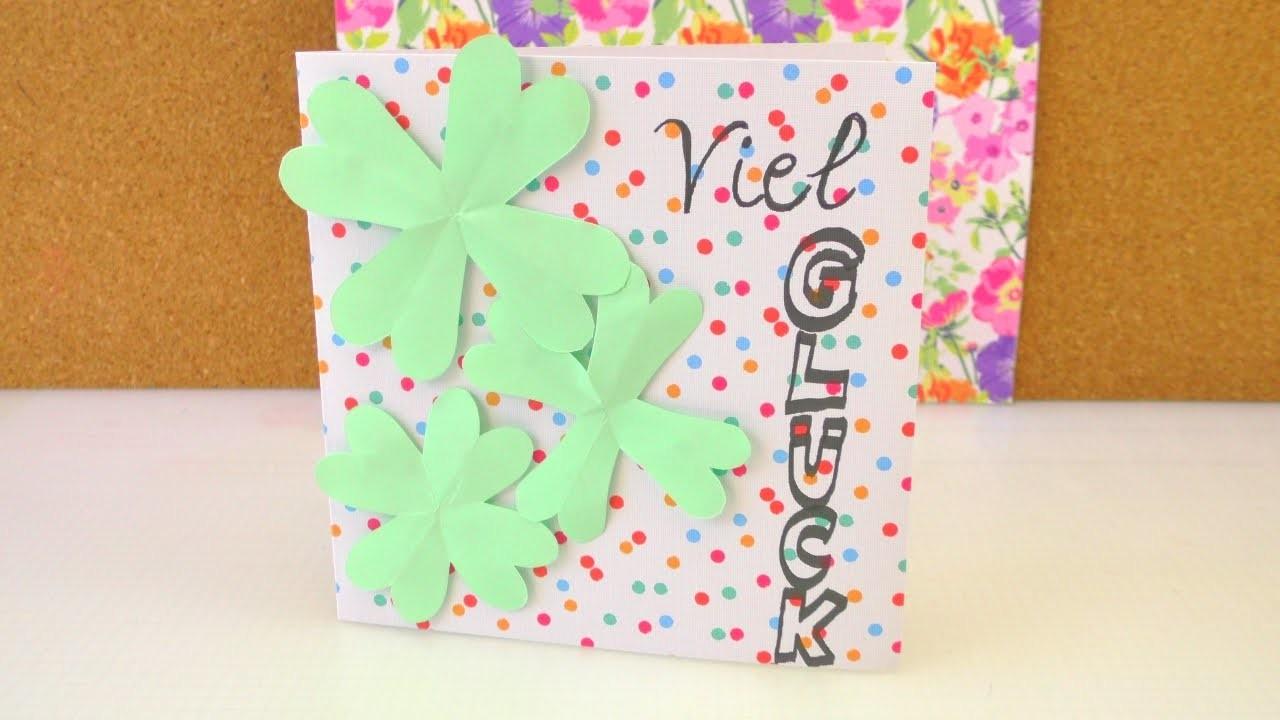 Geburtstagskarte selber machen   Viel Glück! - Glücksklee   Glückwunschkarte DIY mit Klee