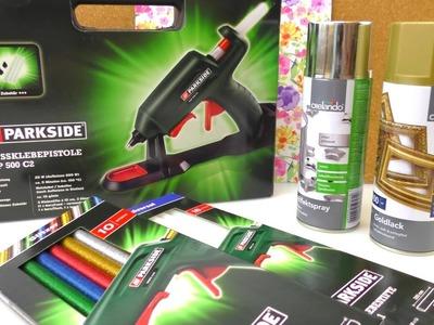 Lidl HAUL | neue Heißklebepistole mit Glitzerklebe & kabellos | Farbe für Weihnachten | DIY