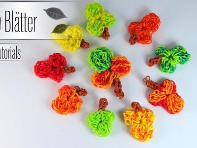 Rainbow Loom dekorative Herbstblätter - Step by Step Anleitung