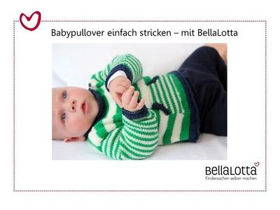 Babypullover einfach stricken - Stricken lernen für Anfänger