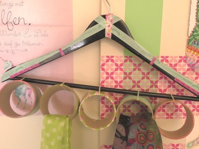 DIY Aufbewahrung für Schal & Tücher | Schal Garderobe zum Aufhängen | Kleiderbügel DIY