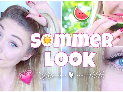 Easy SOMMER LOOK in 5 Minuten ♥ Haare. Make-Up & Styling | BibisBeautyPalace