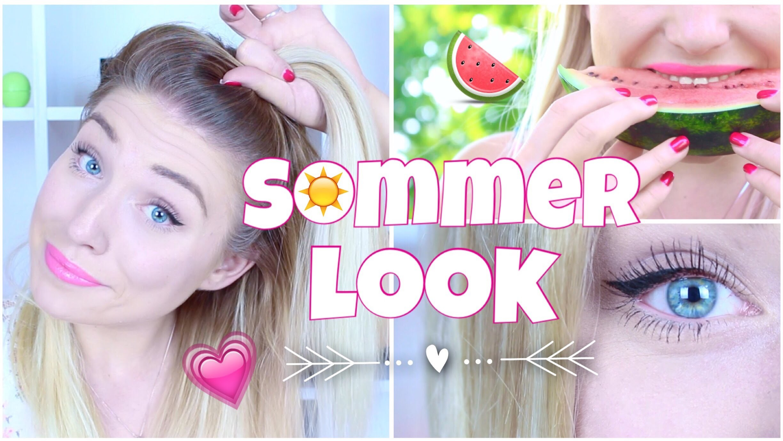 Easy SOMMER LOOK in 5 Minuten ♥ Haare. Make-Up & Styling | BibisBeautyPalace